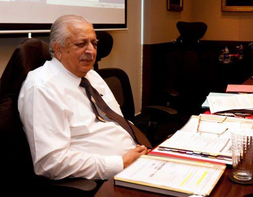 اعجاز بٹ آئی سی سی ایگزیکٹو بورڈ کے اجلاس میں شریک ہیں (تصویر: Getty Images)