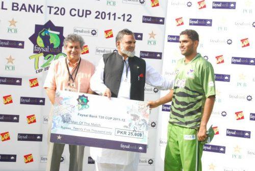 نوید یاسین کو عمدہ باؤلنگ پر میچ کا بہترین کھلاڑی قرار دیا گیا (تصویر: Faysal Cricket)