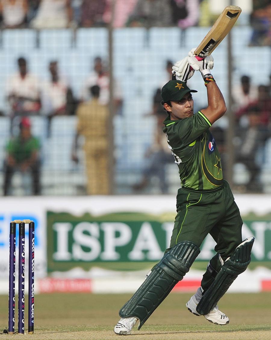 عمر اکمل نے ایک روزہ کیریئر کی 11 ویں نصف سنچری 49 گیندوں پر بنائی (تصویر: AFP)