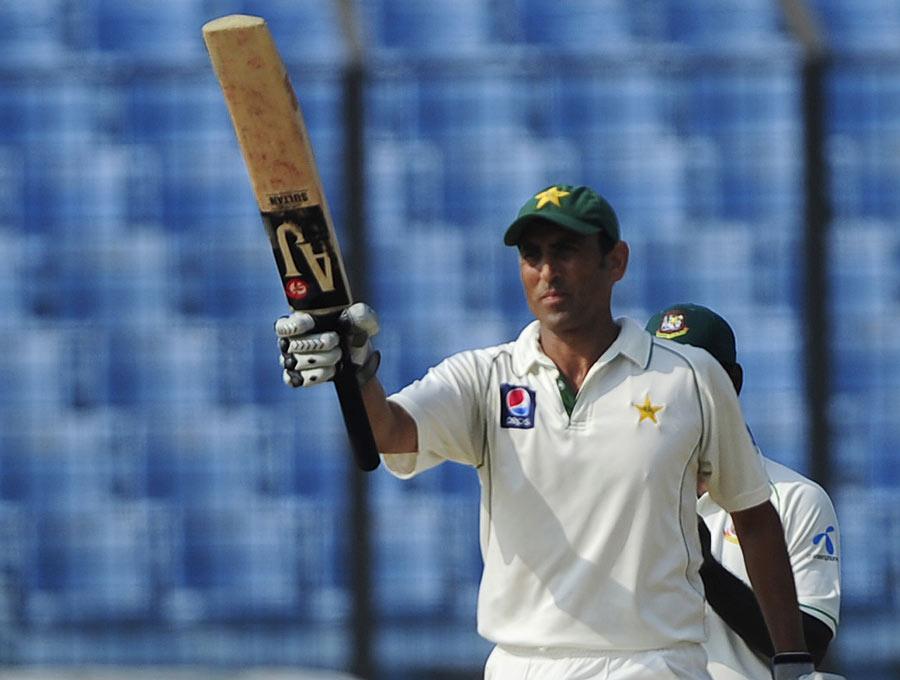 یونس خان نے کیریئر کی دوسری ڈبل سنچری محض 290 گیندوں پر بنائی (تصویر: AFP)