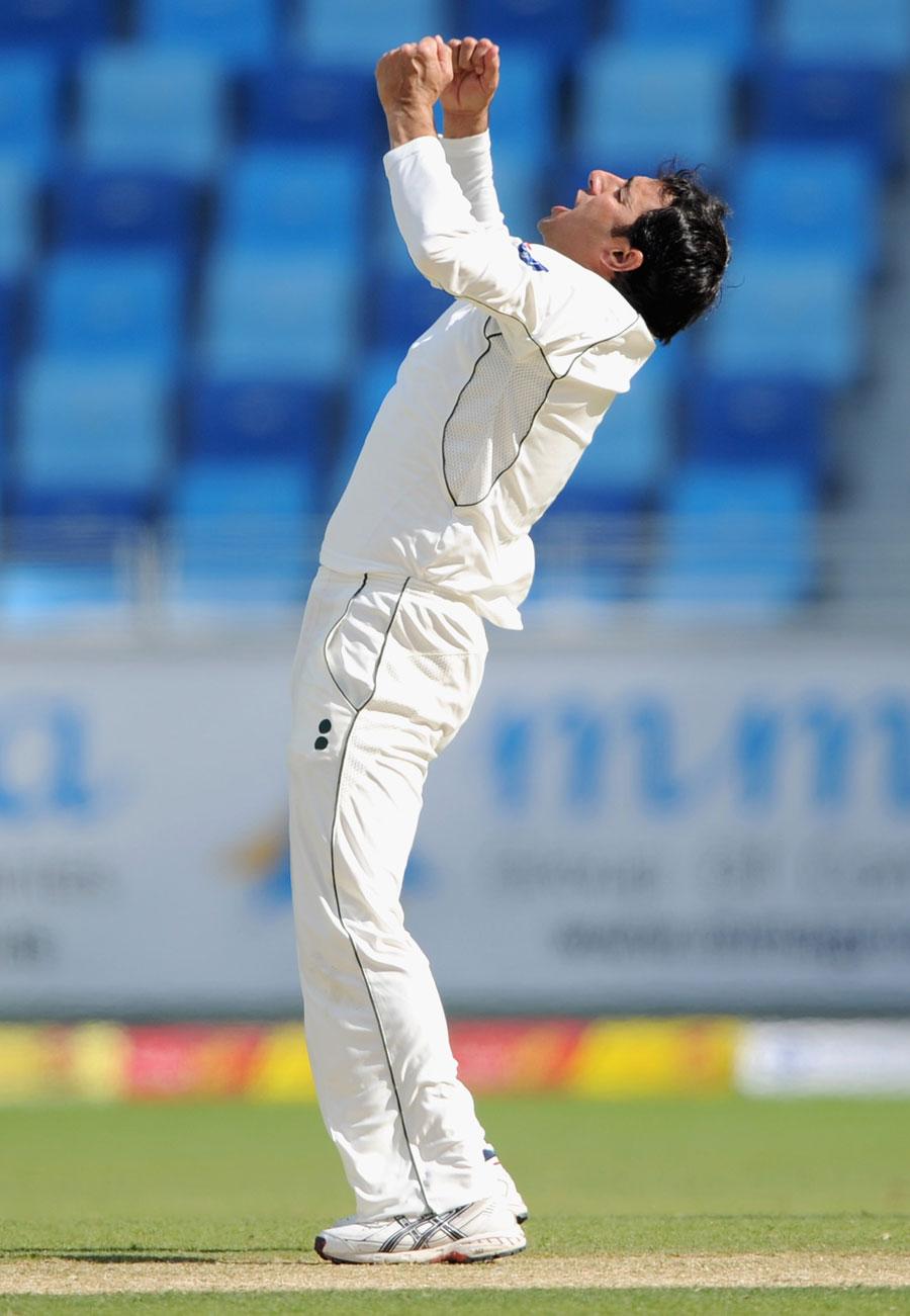 سعید اجمل نے محض 19 ٹیسٹ مقابلوں میں اپنی 100 وکٹیں مکمل کیں (تصویر: Getty Images)