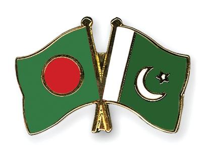Bangladesh and Pakistan flag
