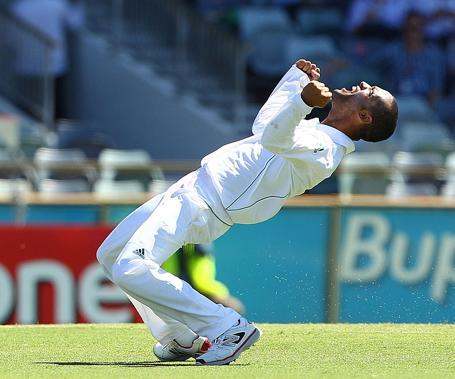 جنوبی افریقہ اسی وقت مقابلے پر گرفت مضبوط کر گیا تھا جب اس کے 225 رنز کے جواب میں آسٹریلیا صرف 163 رنز پر ڈھیر ہوا (تصویر: Getty Images)