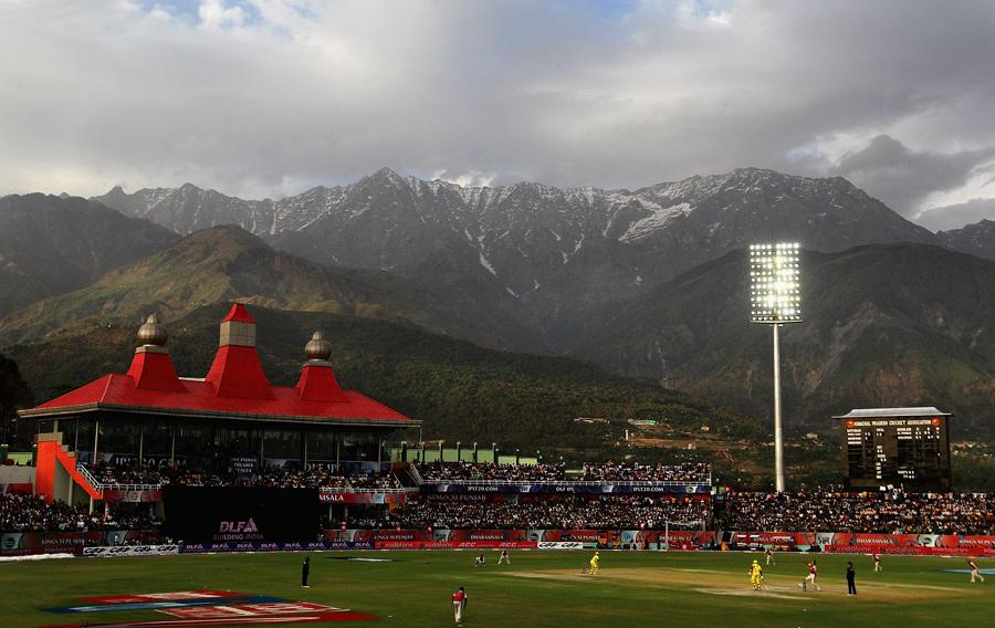 ایچ پی سی اے اسٹیڈیم، دھرم شالہ، بلاشک و شبہ بھارت کا سب سے خوبصورت میدان (تصویر: IPL)