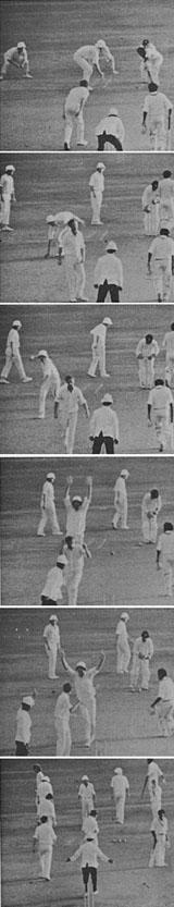 ایلون کالی چرن کا انوکھا آؤٹ (تصویر: The Cricketer)