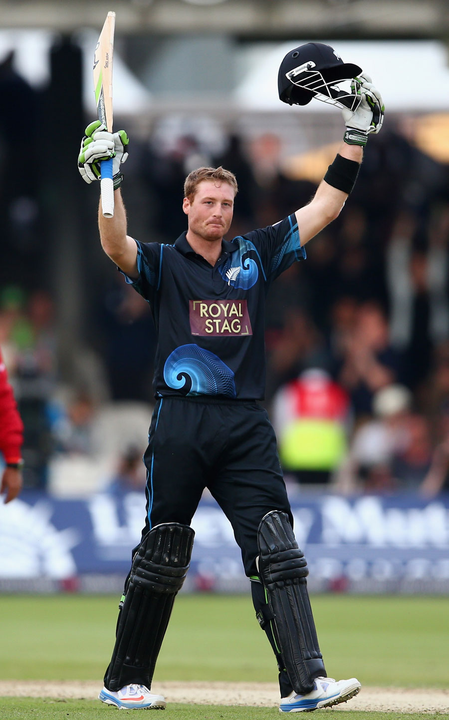 Martin Guptill completed his century and chased down the target on the same delivery (Photo: Getty Images)