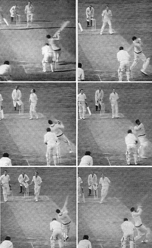 سوبرز کی جانب سے چھ گیندوں پر لگائے گئے شاٹس (تصویر: BBC)