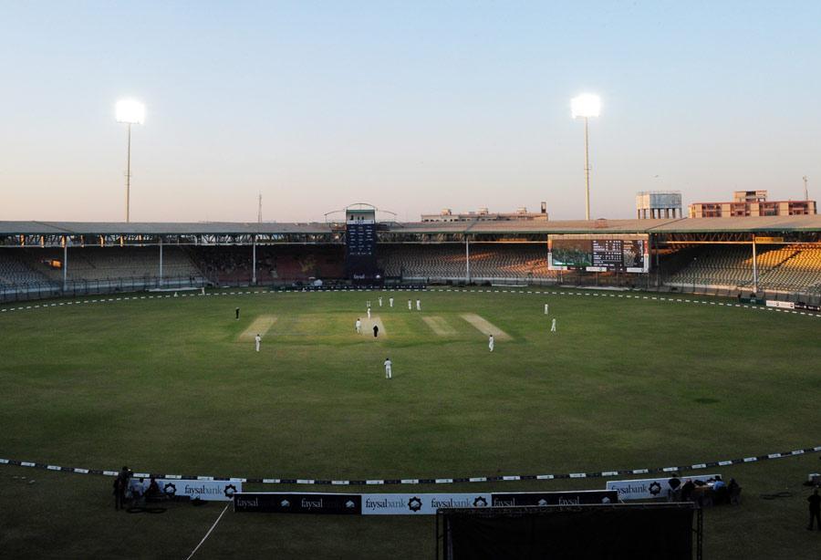 پاکستان نے سب سے زیادہ ٹیسٹ مقابلے کراچی کے نیشنل اسٹیڈیم میں جیتے ہیں (تصویر: AFP)