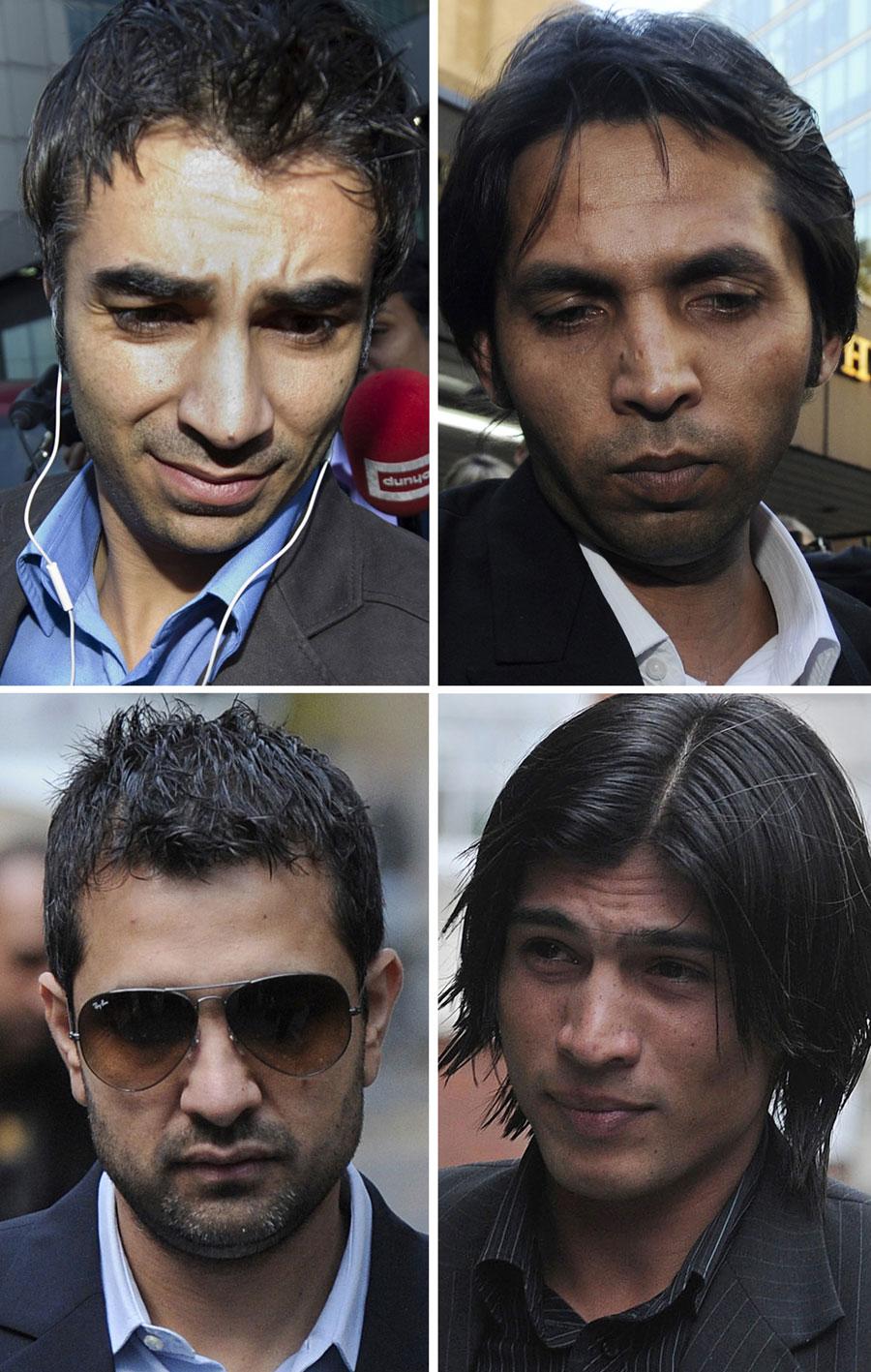 اسپاٹ فکسنگ تنازع کے چار مرکزی کردار، سلمان بٹ، محمد آصف، محمد عامر اور سٹے باز مظہر مجید