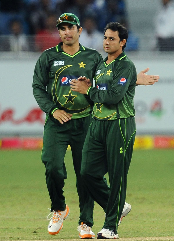 مصباح الحق اور سعید اجمل سال کے بہترین ایک روزہ کھلاڑی کے اعزاز کے لیے مدمقابل ہوں گے (تصویر: AFP)
