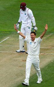 ٹرینٹ بولٹ نے اپنے کیريئر کی بہترین باؤلنگ کی اور نیوزی لینڈ کو سال میں پہلی ٹیسٹ فتح دلائی (تصویر: Getty Images)