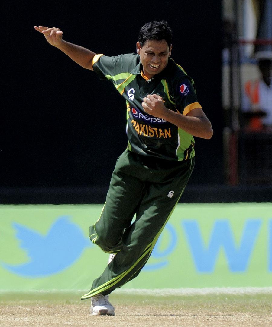 ذوالفقار بابر نے کیریئر کے اولین ٹی ٹوئنٹی مقابلے میں ہی پاکستان کو آخری گیند پر چھکے کے ذریعے فتح دلائی (تصویر: WICB)
