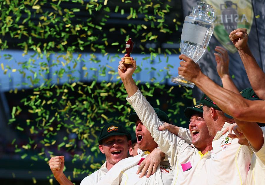تاریخ کی محض تیسری آسٹریلوی ٹیم جس نے پانچ-صفر سے ایشیز سیریز جیتی (تصویر: Getty Images)
