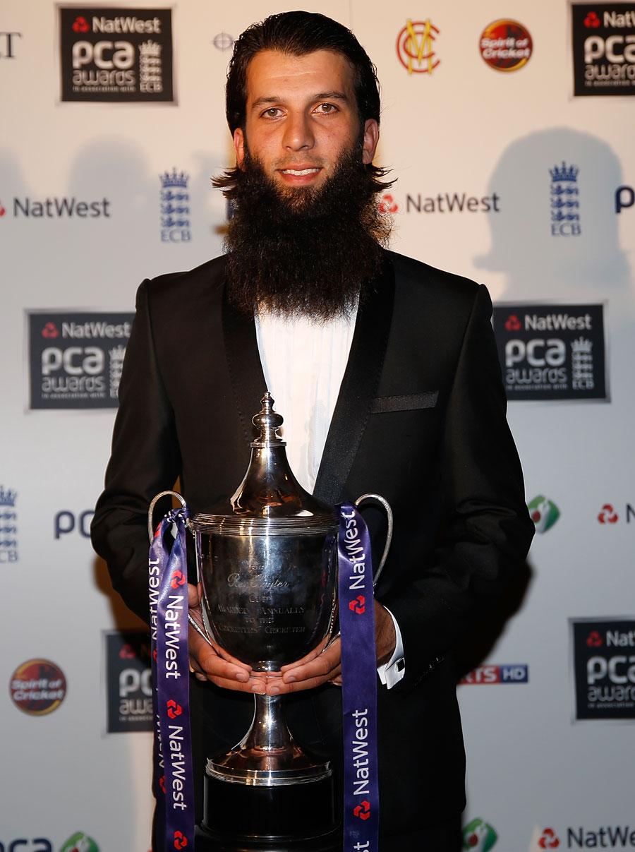 معین علی گزشتہ سال پی سی اے کی جانب سے سال کے بہترین کھلاڑی کا اعزاز حاصل کرچکے ہیں (تصویر: Getty Images)