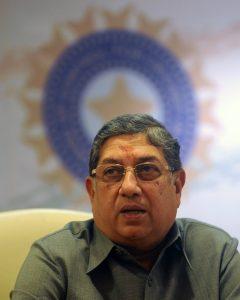 بھارت کے این شری نواسن رواں سال کے وسط میں آئی سی سی بورڈ کے چیئرمین کا عہدہ سنبھالیں گے (تصویر: AFP)