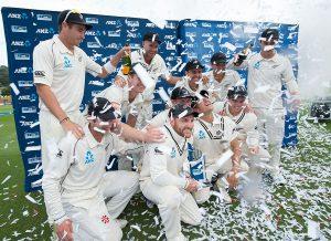 نیوزی لینڈ 11 سال کے طویل عرصے بعد بھارت کے خلاف ٹیسٹ سیریز جیتا (تصویر: Getty Images)
