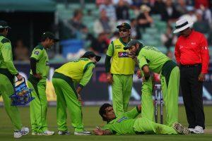 اگر پاکستان ورلڈ ٹی ٹوئنٹی نہ جیت پایا تو اس میں اہم کردار محمد عرفان کے زخمی ہونے کا بھی ہوگا (تصویر: Getty Images)