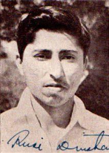 روسی ڈنشا کی ایک یادگار تصویر، 1952ء کے دورۂ بھارت کے موقع پر (فائل فوٹو)