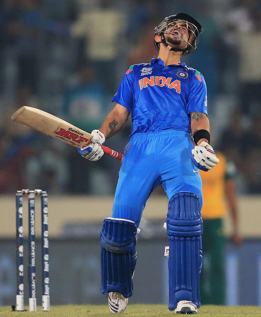 ویراٹ کوہلی کے سامنے جنوبی افریقہ کی ایک نہ چلی، ناقابل شکست اور فتح گر 72 رنز بھارت کو فائنل میں پہنچا گئے (تصویر: ICC)