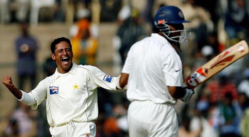 پاک-بھارت آخری ٹیسٹ دسمبر 2007ء میں کھیلا گیا تھا (تصویر: AFP)