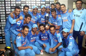 بھارت سیریز تو جیت گیا لیکن سیریز دونوں ٹیموں کے لیے سخت خفت کا باعث بنی ہے (تصویر: BCB)
