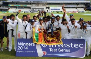 سری لنکا نے بھی درجہ بندی میں ترقی پائی ہے اور ساتویں سے چھٹے نمبر پر آ گیا ہے (تصویر: PA Photos)