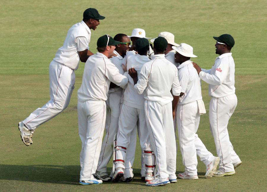 زمبابوے نے آخری ٹیسٹ گزشتہ سال ستمبر میں کھیلا تھا اور پاکستان کے خلاف یادگار فتح حاصل کی تھی (تصویر: AFP)