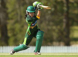 پاکستان کی جانب سے واحد قابل ذکر اننگز جویریہ خان نے کھیلی، جنہوں نے دورے پر پہلی نصف سنچری بنائی (تصویر: Getty Images)