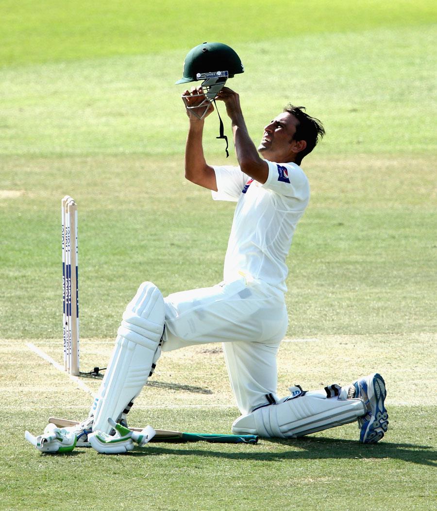 یونس خان 90 سالوں میں آسٹریلیا کے خلاف مسلسل تین سنچری اننگز کھیلنے والے واحد بلے باز ہیں (تصویر: Getty Images)
