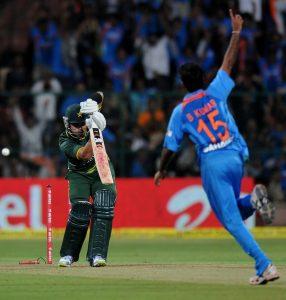 پاکستان اور بھارت تقریباً ڈیڑھ سال بعد پہلا ون ڈے ورلڈ کپ 2015ء میں کھیلیں گے (تصویر: BCCI)