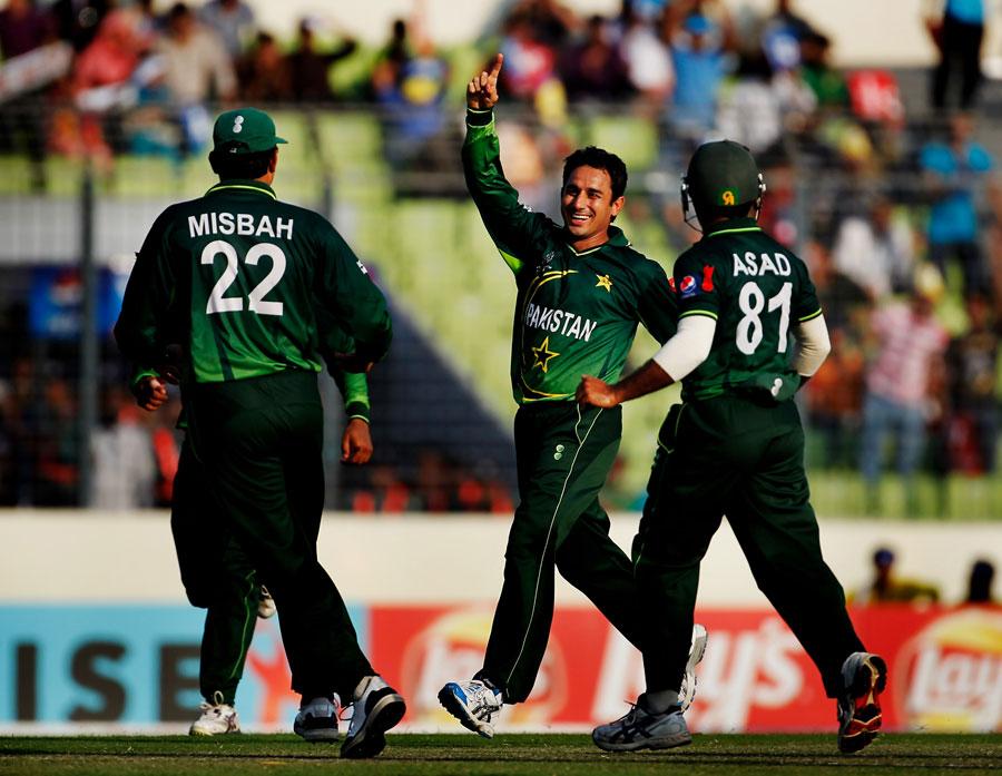 سعید اجمل نے عالمی کپ 2011ء میں پاکستان کی نمائندگی کی تھی اور اب ان کی نظریں اگلے ورلڈ کپ پر ہیں (تصویر: Getty Images)
