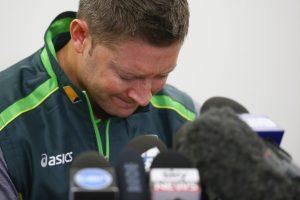مائیکل کلارک سمیت آسٹریلیا کے تمام کھلاڑی اس وقت بہت دل گرفتہ ہیں (تصویر: Getty Images)