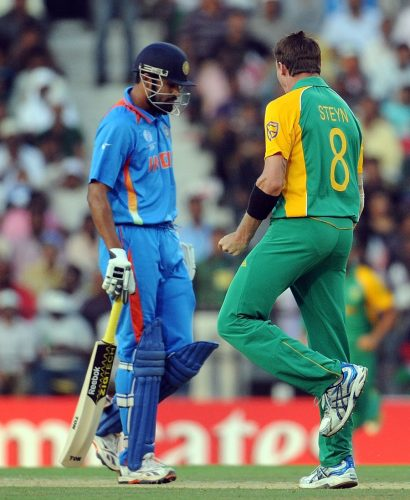 بھارت عالمی کپ کی تاریخ میں آج تک جنوبی افریقہ کو نہیں ہرا سکا، یہاں تک کہ 2011ء میں بھی نہیں کہ جب وہ عالمی چیمپئن بنا تھا (تصویر: AFP)