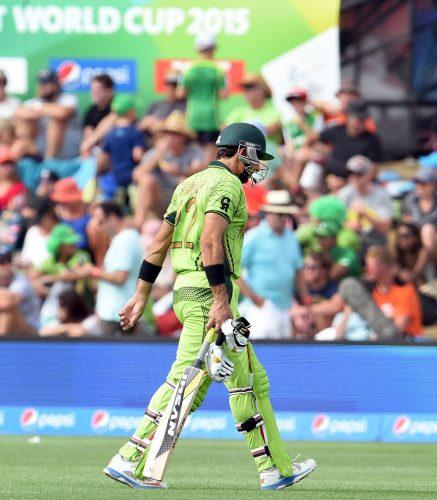 پاکستان کو عالمی کپ کی تاریخ میں تیسری 100 یا زیادہ رنز سے شکست ہوئی (تصویر: AFP)
