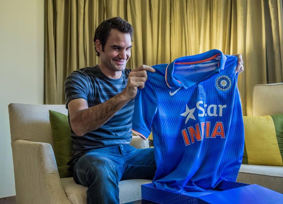 راجر فیڈرر نے اس تصویر کے ذریعے نہ چاہتے ہوئے بھی اچھا خاصا ہنگامہ پیدا کیا (تصویر: Roger Federer)