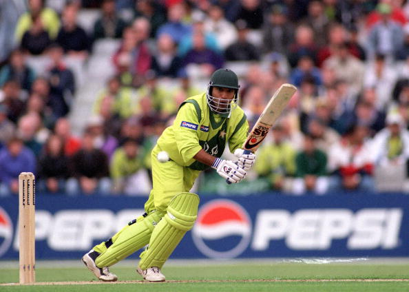 1999 Cricket World Cup, Headingley, 23rd May, 1999, Pakistan beat Australia by 10 runs, Pakistan's Saeed Anwar batting  (Photo by Popperfoto/Getty Images)