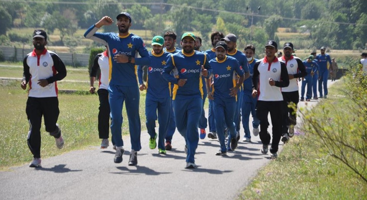 Pakistan-Cricket-Team-summer-fitness-boot-camp