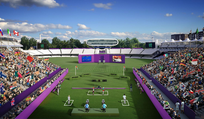 """لندن اولمپکس 2012ء میں """"کرکٹ کے گھر"""" لارڈز میں تیر اندازی کے مقابلے منعقد ہوئے"""