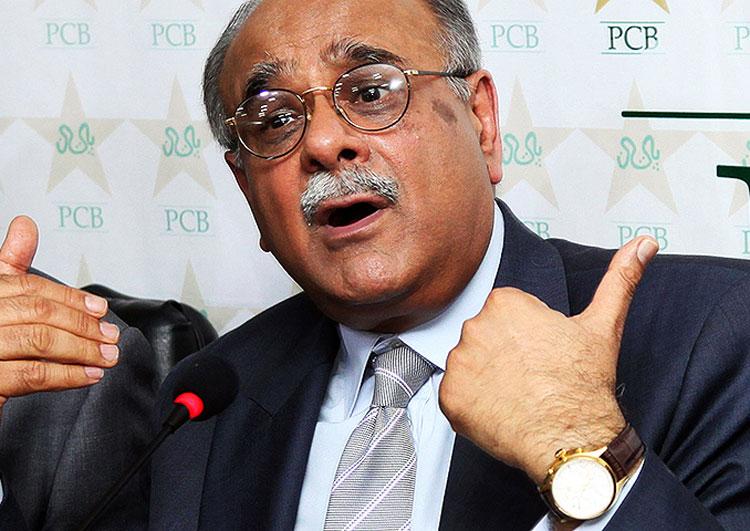 پاکستان کرکٹ بورڈ کے چیئرمین نجم سیٹھی